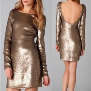 Haute Hippie sequin open back Dress